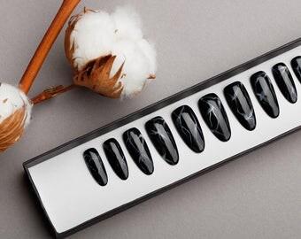 Marble Press on Nails | Handpainted Nail Art | Fake Nails | False Nails | Stone Effect