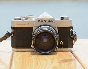 Vintage Konica Autoreflex A 35mm film SLR camera