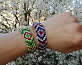 Braided bracelet, Handwoven bracelet,Knotted bracelet, Chevron bracelet,Friendship bracelet,Bracelet bresilien, Summer bracelet,Wrist band