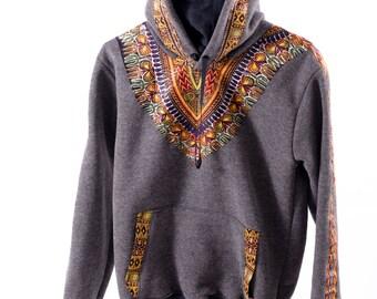 Dashiki Hoodie, Hood, Sweatshirt, African theme