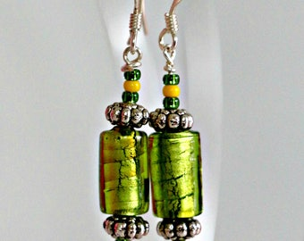Emerald City - handmade earrings