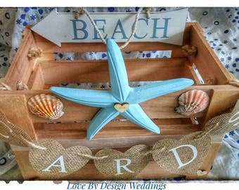 Beach Themed Wooden Wedding Card Crate, Wooden Wedding Card Box, White Wedding Crate, Beach Wedding Decorations, Beach Themed Decor, postbox