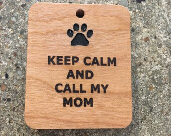 Personalized custom engraved pet identification tags and keyrings
