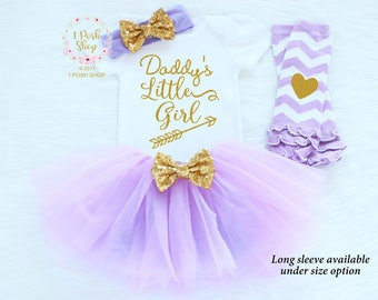 Daddys Princess, Baby Girl Outfit, Baby Fathers Day Outfit Girl, Daddys Little Girl, Baby Girl Fathers Day Outfit, My First Fathers Day FD16