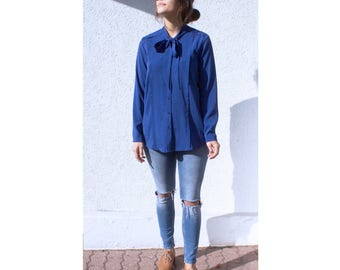 Bow blouse / Navy