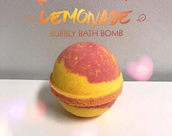 Raspberry Lemonade Bubbly bath bomb
