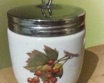 Royal Worcester Porcelain Egg Coddler - berries & fruit pattern