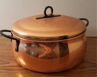 Vintage Copper Pot / Dutch Oven