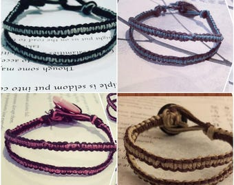 Hemp/Cotton Macrame Double-band Bracelets
