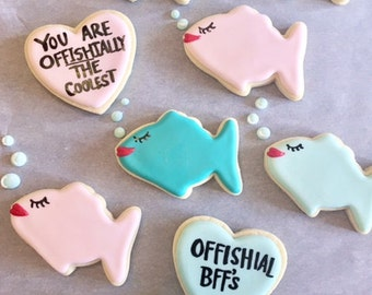 BFF Fish Sugar Cookies With Royal Icing