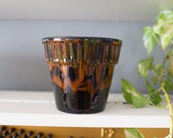 Vintage drip glaze ceramic pot
