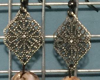 Antique Brown Fire earrings