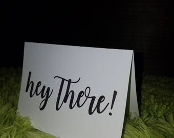 Hey There! - Black (set of 10 w/ envelopes)