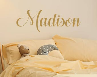 Personalized Childrens Wall Decal - Girls Name Wall Decal - Nursery Wall Decal - Personalized Name Decal - Vinyl Wall Decal S49
