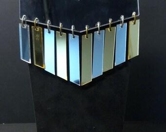 Geometric Metallic Statement Necklace