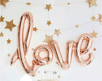 Rose gold love balloon, Wedding, Engagement, Anniversary