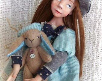 Alice. Art Doll. Polymer clay Doll.