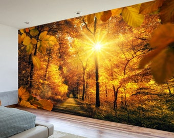 Nature Wall Mural, Wall Covering, Forest Wallpaper, Peel And Stick, Wall  Mural Part 66