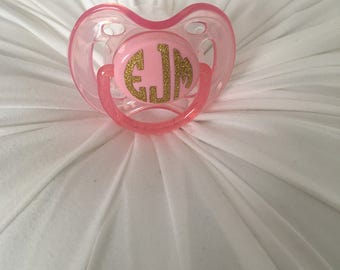 Monogrammed Pacifier DECAL ONLY Set of 6