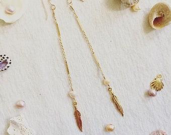 14 kgf feather pierce w / pearl