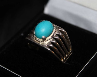 925 Sterling Silver Men's Ring - Beautiful Feroza Aqeeq Ring