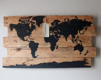Black Pallet World Map