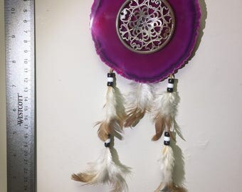 Geode Slice dream catcher