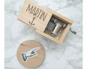 Wedding Favours, Music Box, Engraved Gift, Baby Shower Gift, Wedding Favours Guests, Birthday Gift, Wooden Music Box