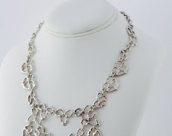 Organic Sterling Silver Statement Necklace