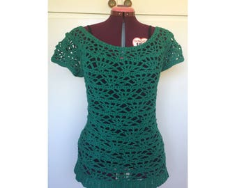 Festival Clothing, Crochet Top, Summer Tops, Womens Tops, Beach Top, Hippie Boho Clothing, Womens Tshirts, Crochet Cotton Top, Summer Blouse