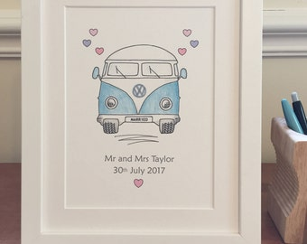Personalised wedding print- framed