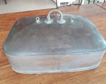 Vintage Very Large COPPER MEAL COVER