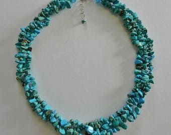 """19"""" Turquoise Magnesite Necklace With 2"""" Extender"""