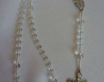 Crystal Quartz Catholic Rosary