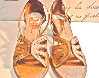 SOFIE SCHNOOR Women's Brown Leather Sandals Mary Janes Size 8,5us/6uk/39eu