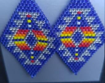 Native American Handmade Brick Stitch Earrings