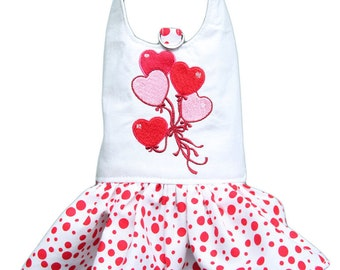 My Little Valentine dress and leave red for small dog