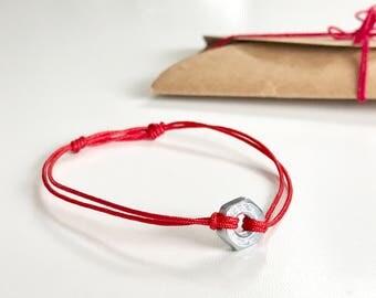 Charm Bracelet Hex Nut Charm Bracelet