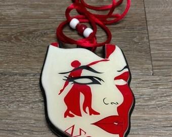 Delta Sigma Theta Sorority Mask Tiki