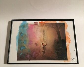 Watercolor 8 on Postcard