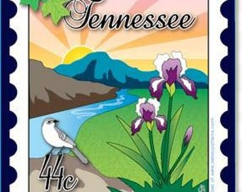 Mini Postage Stamp Panel -  Tennessee