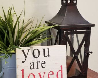 "Wood Sign ""You Are Loved Always"""