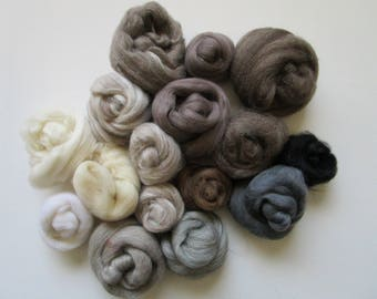 Needle Felting Kit - Felting Kit - Fibre Kit - Felt Making - Felting Fibre - Fibre Assortment - Wool Fibre - Wool Fibre Kit -