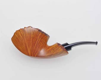 handmade smoking tobacco pipe