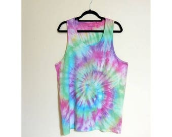 Tie Dye Men's Singlet / Tank Top - Size XL