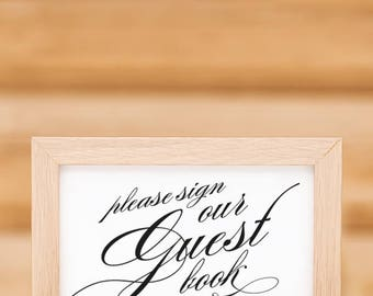 Printable Wedding Guest Book Sign