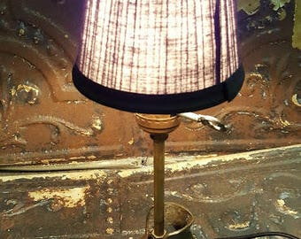 Antique Brass Boot Upcycled Desk Lamp