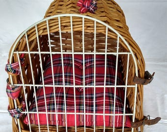 Hand Made Vintage Wicker Pet Basket (small)