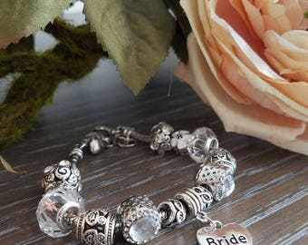 Bridesmaid and Bridal Party Charm Bracelets