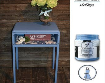 Chalk-Based Painted Nightstand Table